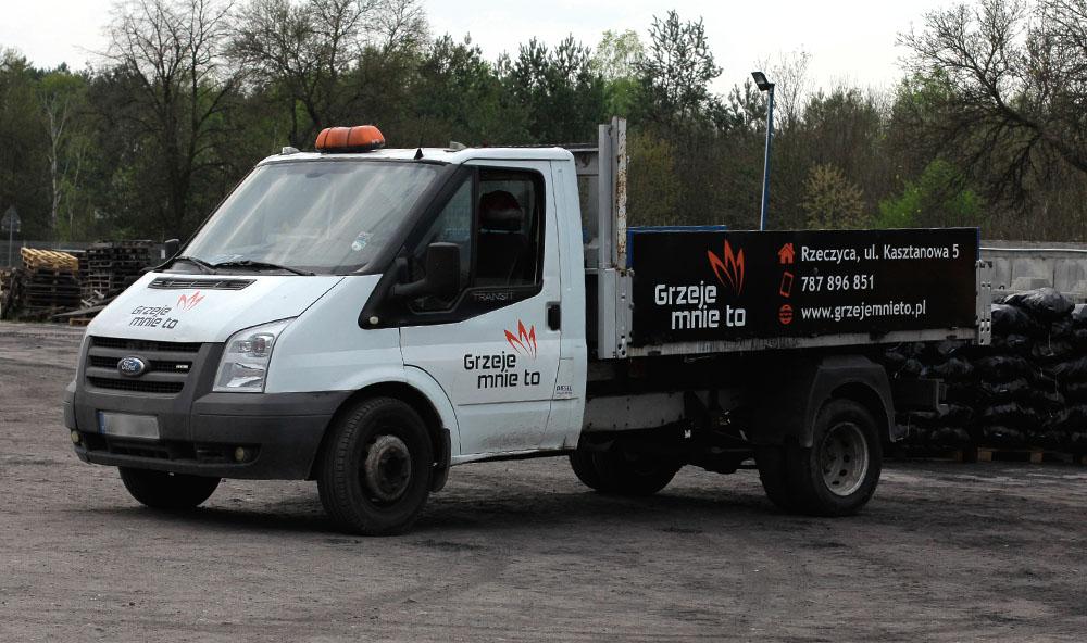 samochód do transportu ekogroszku - darmowa dostawa
